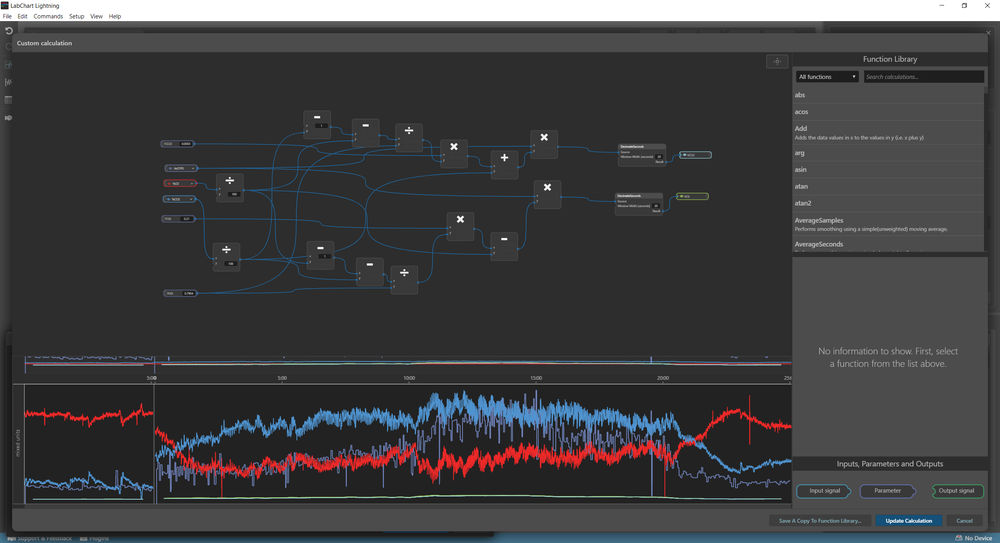 VCo2 and VO2 calculation LabChart Lightning